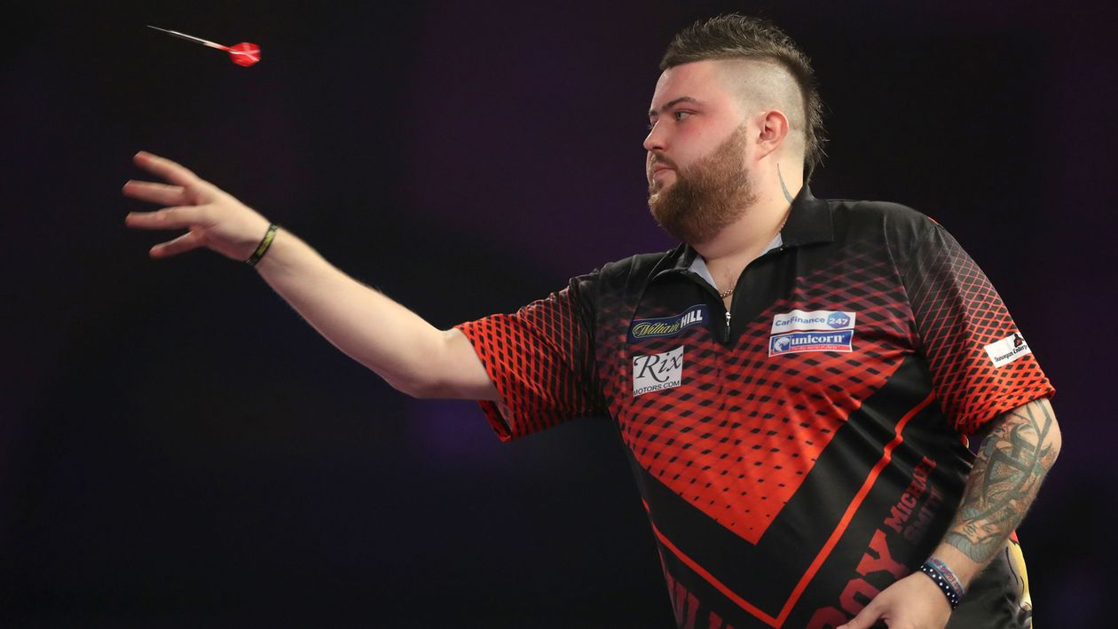 pdc world darts championship day seven michael smith. Black Bedroom Furniture Sets. Home Design Ideas