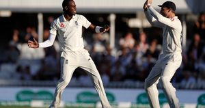 Celebrations for Jofra Archer in the fifth Test of the Ashes