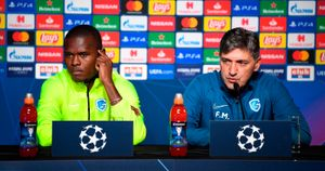 Mbwana Samatta and Felice Mazzu: Genk player and manager talk to the press ahead of their clash with Liverpool