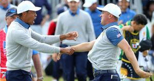 More celebrations for Tiger Woods and Justin Thomas