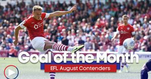 Scroll down to watch all of the contenders for Goal of the Month