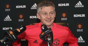 Ole Gunnar Solskjaer speaks to the media as Manchester United manager