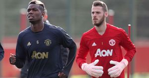 Paul Pogba and David De Gea will miss Manchester United v Liverpool