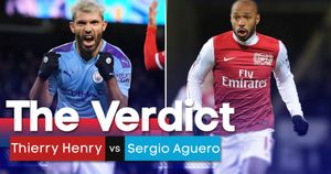 Who is the best between Sergio Aguero and Thierry Henry?