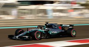 Lewis Hamilton roars to the fastest time