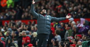 Jurgen Klopp reacts during Liverpool's draw with Manchester United