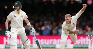 Steve Smith and Ben Stokes in action