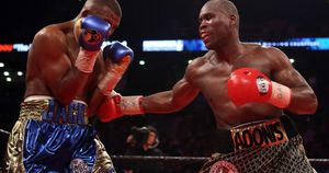 Adonis Stevenson (right), pictured against Badou Jack in May