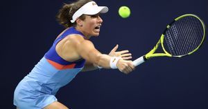 Johanna Konta, pictured in action in Miami