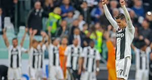 Cristiano Ronaldo celebrates for Juventus