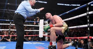 Tyson Fury beats the count