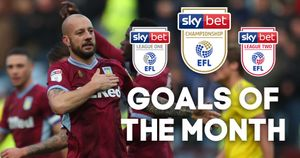 The Sky Bet EFL Goals of the Month nominees have been revealed