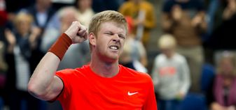 An emotional Kyle Edmund after sealing his first ATP Tour singles title