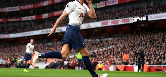 Eric Dier celebrates his goal for Tottenham in the north London derby