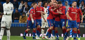 CSKA Moscow celebrate a goal against Real Madrid