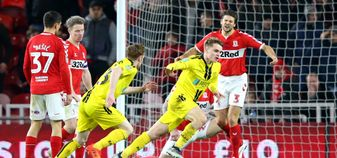Jake Hesketh scores the goal that put Burton into the Carabao Cup semi-final