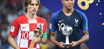 Luka Modric (left) and Kylian Mbappe: Both in the Ballon d'Or running after impressive World Cups