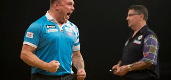 Gerwyn Price beat Gary Anderson in the Grand Slam of Darts final (Picture: Lawrence Lustig/PDC)