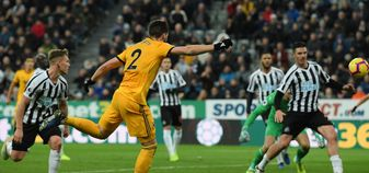 Matt Doherty scores a late winner for Wolves against Newcastle