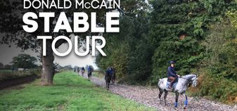 We visited Donald McCain's stable to get the latest on the team