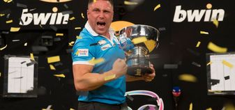 Gerwyn Price wins the Grand Slam of Darts (Picture: Lawrence Lustig/PDC)