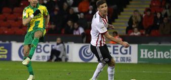 Kieran Gibbs scores for West Brom against Sheffield United