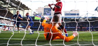 Ross Barkley scores a late equaliser for Chelsea against Manchester United