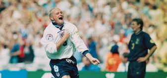 Paul Gascoigne scored a wonder goal against Scotland at Euro 96
