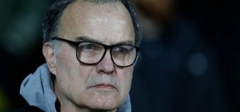 Leeds boss Marcelo Bielsa - top of the Championship