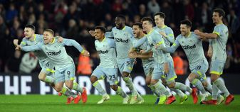 Derby County celebrate