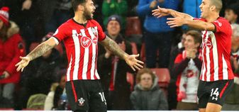 Charlie Austin celebrates scoring a goal for Southampton