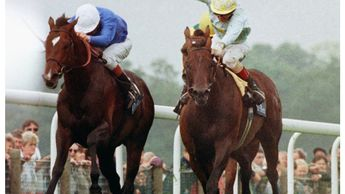 Swain and John Reid win the 1997 King George from Pilsudski