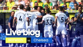 Follow all the action from the early Premier league game as Norwich City host Chelsea