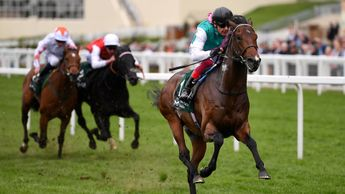 Calyx streaks clear in the Commonwealth Cup Trial at Ascot
