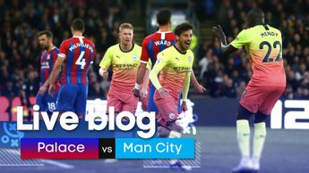 Join us for coverage of Crystal Palace v Man City in the Premier League