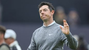 Rory McIlroy waves to the crowd