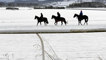 The cold snap is hitting racing