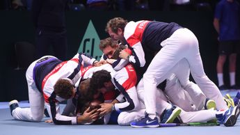 France celebrate their 10th Davis Cup tite