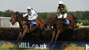 Lost Legend (l) jumps alongside It's A Gimme