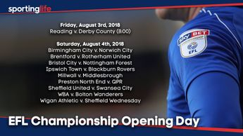 Sky Bet Championship opening day fixtures