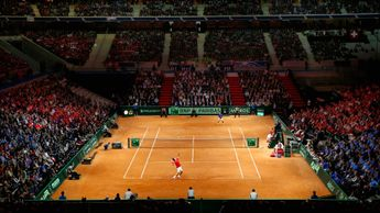 Lille's Stade Pierre Mauroy staged the 2014 Davis Cup final