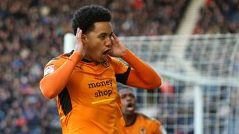 Helder Costa of Wolves celebrates