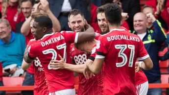 Daryl Murphy & Nottingham Forest celebrate