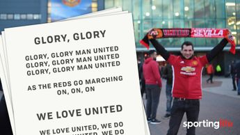 Could lyric sheets really be handed out at Old Trafford?!