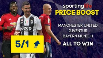 Sporting Life Price Boost: Manchester United, Juventus and Bayern Munich all feature