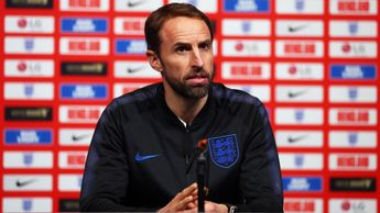 England boss Gareth Southgate talks to the press