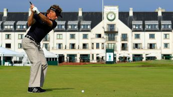 Bernhard Langer in action at Carnoustie