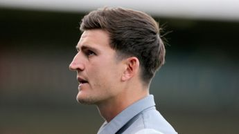 Harry Maguire: Defender pictured in pre-season with Leicester