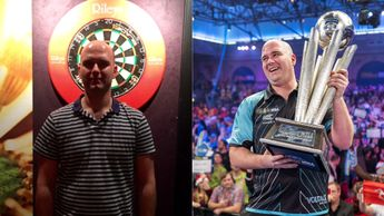 Rob Cross after his 2016 Rileys Qualifier win and his 2018 World Championship win