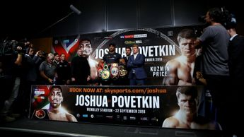 Anthony Joshua and Alexander Povetkin ahead of their fight